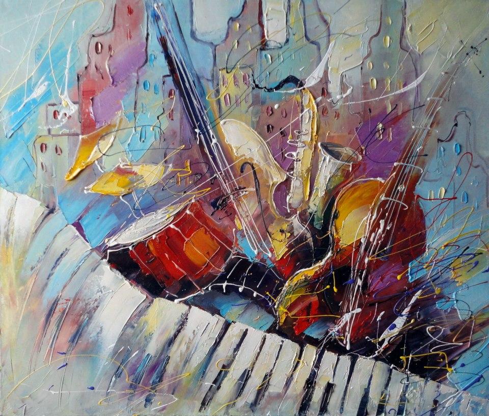 картины художников связанные с музыкой Гарри Полицейский робот