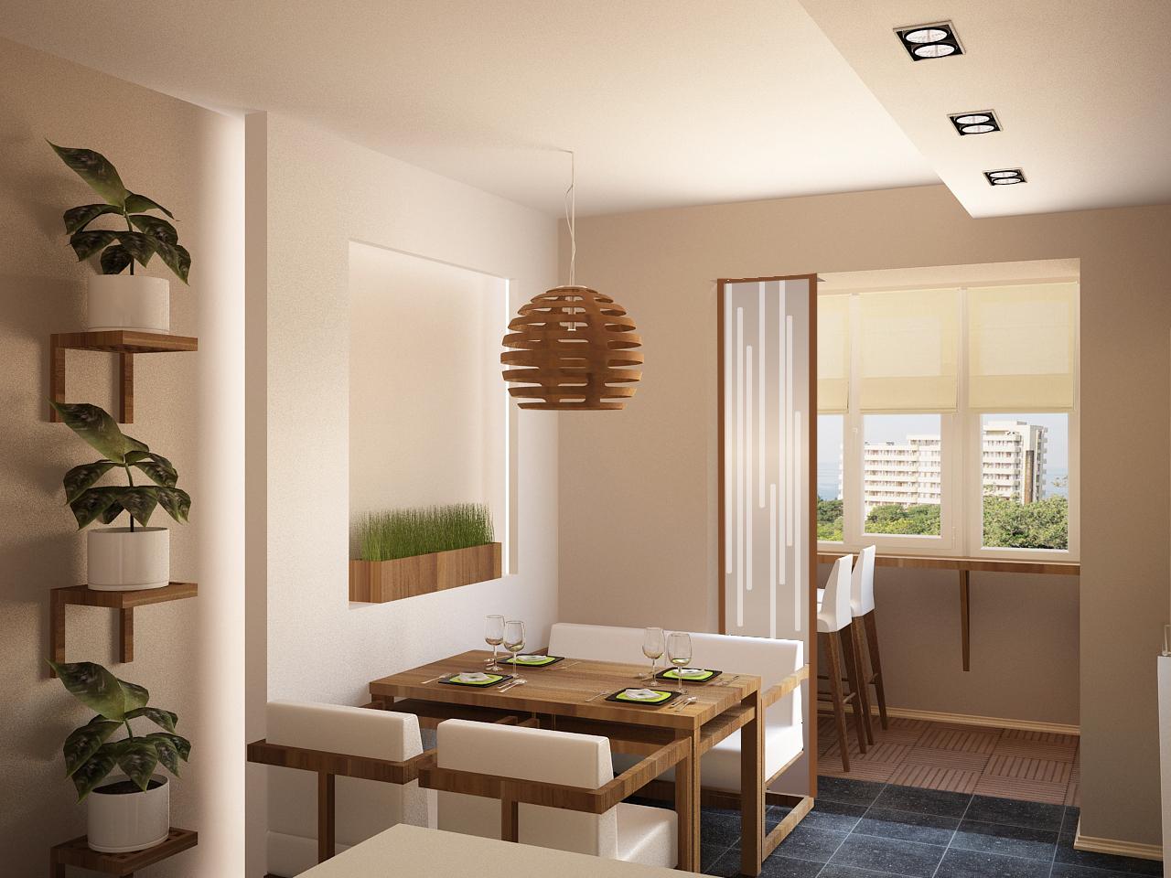 Кухня на лоджии (40 фото).